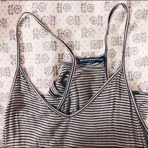 Brandy Melville black and white stripe romper